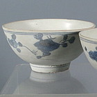 Pair of Blue and White Annamese Bowls, 15th C
