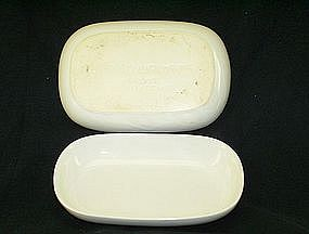 United Airlines Serving white small tray/dish 2