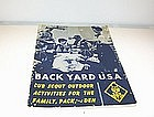 Back Yard U.S.A. Cub  Scout Outdoor Activities