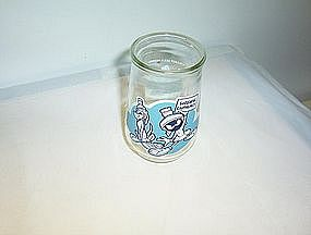 Welch's Looney Tunes Special Edition glass empty
