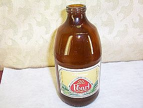 Pearl Beer Bottle (empty) Paper Label