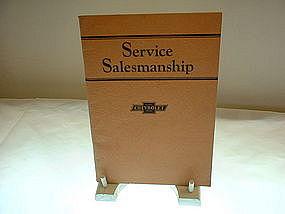 Service Salesmanship Chevrolet  Motor Co. 1928