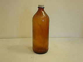 Clorox Amber colored bottle - empty