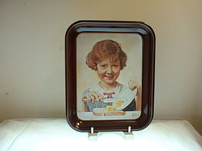 Norman Rockwell 1st Ed 1975 The Butter Girl  Tray