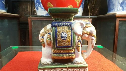 Asian ceramic elephants