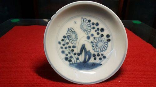 Chinese Qing Dynasty Blue & White Porcelain plate