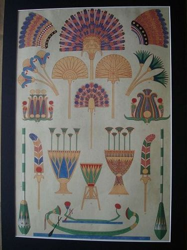 Egyptian Designs - Owen Jones - The Grammar of Ornament - Colour Litho