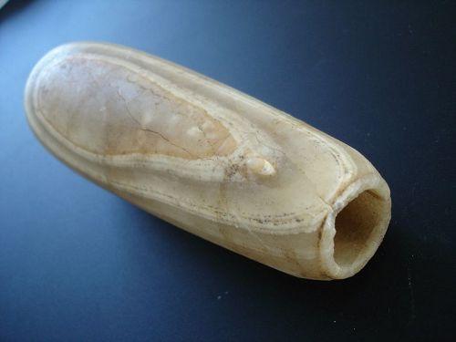 Large Museum Quality Ancient Egyptian Alabaster Alabastron - 18 cm