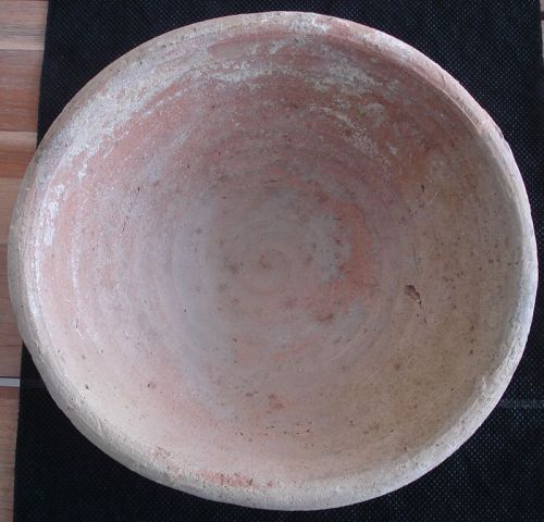 Large Ancient Egyptian Terracotta Offering Bowl. Late Period