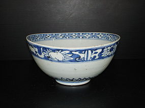 Ming Jiajing blue and white large bowl