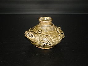 Rare Jin dynasty celadon yaozhou type small frog jar