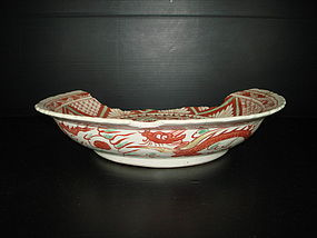 Sample of early Ming over glaze enamel large dish