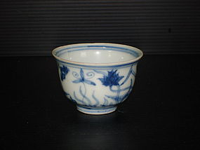 Rare Ming Chenghua flowery small palace bowl