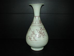 Yuan dynasty red under glaze yuhuchun vase 24cm perfeck