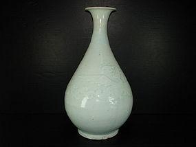 Yuan dynasty qingbai large phoenix yuhuchun vase 29cm
