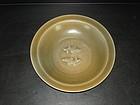 Yuan longquan celadon golden twin fish dish 21 cm