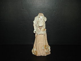 Rare shards sample of Yuan qingbai large human