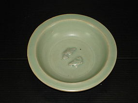 Fine Song longquan celadon blue green fish dish