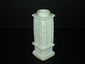 Rare Yuan dynasty qingbai Cong shape vase