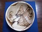 Rare Tang Changsha bowl with flying bird motif