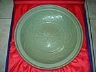 Fine Song Yuan dynasty longquan celadon large dish 34cm