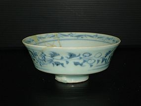 Rare sample of Yuan persian blue and white bowl