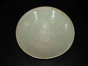 Song Yuan dynasty qingbai large phoenix bowl