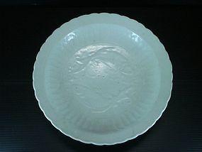 Yuan dynasty shufu glaze large double fish plate