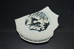 Rare sample of Yuan blue and white deer motif