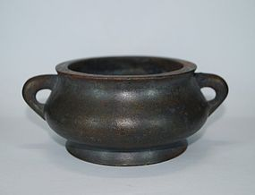 Qing 18th century Chinese bronze censer