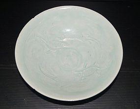 Song dynasty Hutian kiln qingbai two fish dish