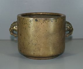 Ming dynasty 17th century Chinese bronze censer