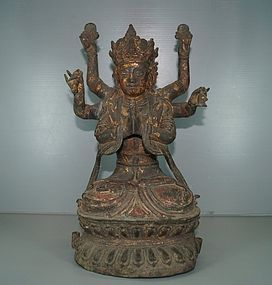 Ming 17th century Chinese bronze of Guanyin 30cm