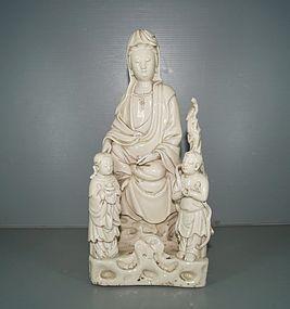 Ming 17th century Dehua blanc de chine Guanyin