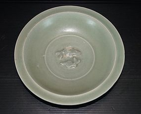 Rare Song longquan dish with big and small fish