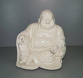 Ming dynasty Dehua figure of Budai Lin Xuezhong mark