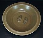 Song Yuan longquan golden celadon two fish dish
