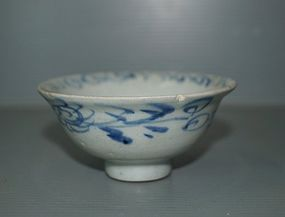 Rare Yuan dynasty blue and white small cup