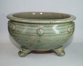 Ming dynasty longquan celadon large censer