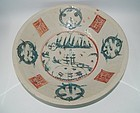 Rare late Ming swatow zhangzhou enamel large dish
