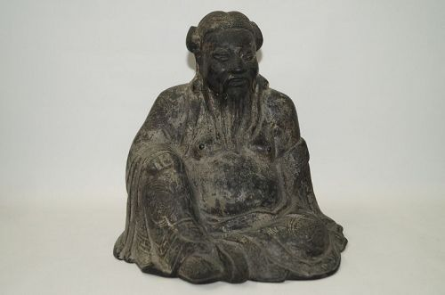 Rare Ming dynasty bronze figure of Taoist Immortals