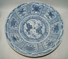 Ming dynasty Zhangzhou blue and white large dragon plate