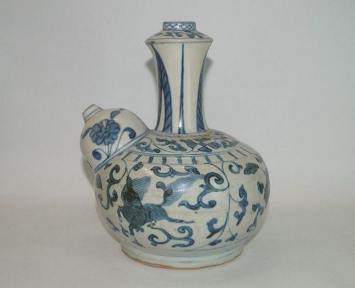 Ming dynasty wanli period blue and white Kendi