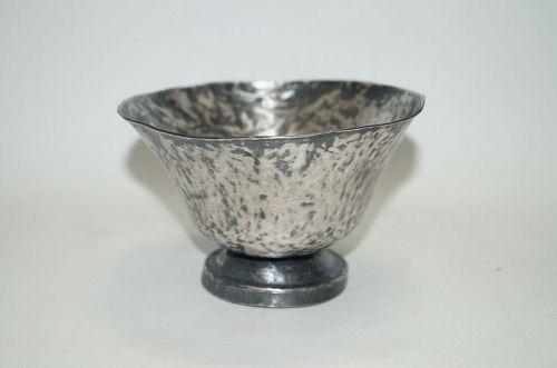 Tang dynasty 10th century silver stem bowl