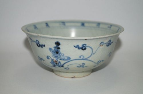 Rare Ming dynasty Xuande minyao blue and white bowl