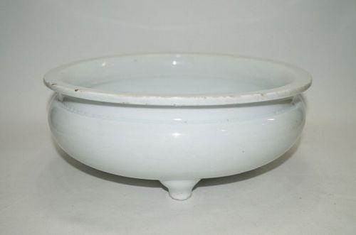 Late Ming dehua white glaze large censer