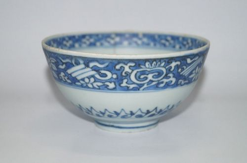 Late Ming Jiajing Wanli blue ground bowl
