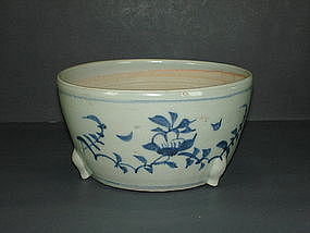 Early Ming 15th century blue and white censer