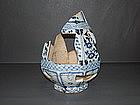 Rare big shard of Yuan dynasty blue and white Yuhuchun