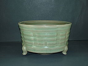 Song - Yuan dynasty longquan celadon large censer
